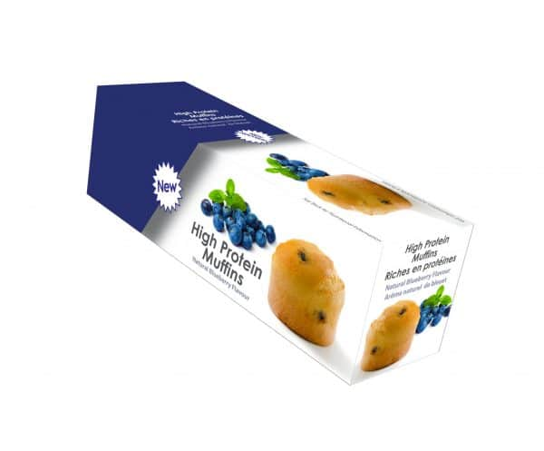 Healthy muffins blueberry (5/box)