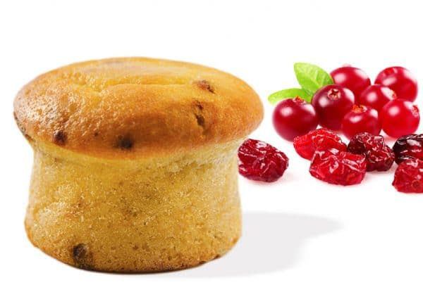 Healthy muffins cranberry (5/box)