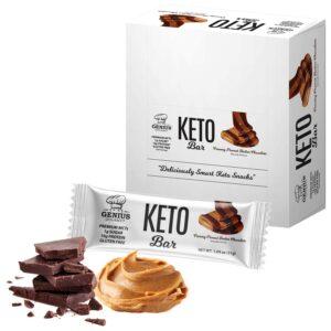 Barres protéinées Keto Beurre d'arachide crémeux (12 unités)
